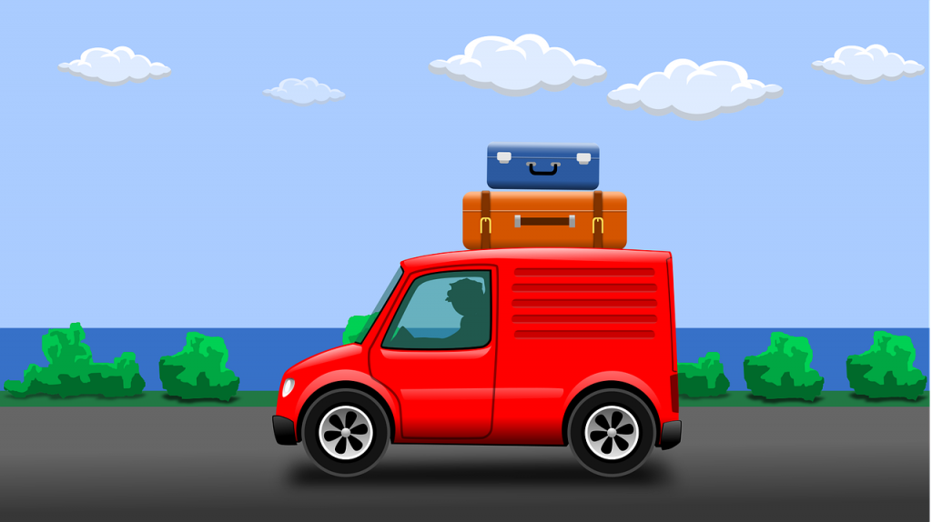 Car on the road - road trip safety for your move