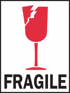 glass - how to pack fragile items