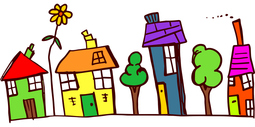 houses drawing - moving tips for families
