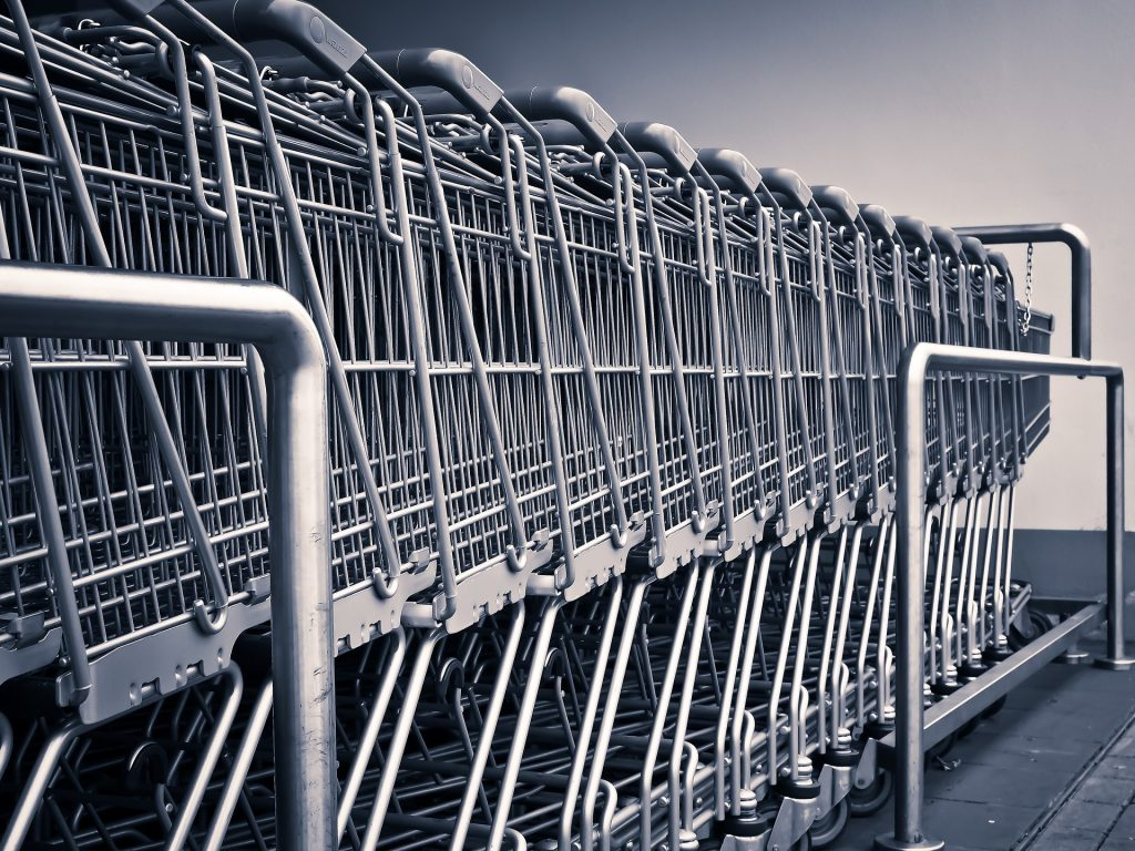 shopping carts - shopping after you move
